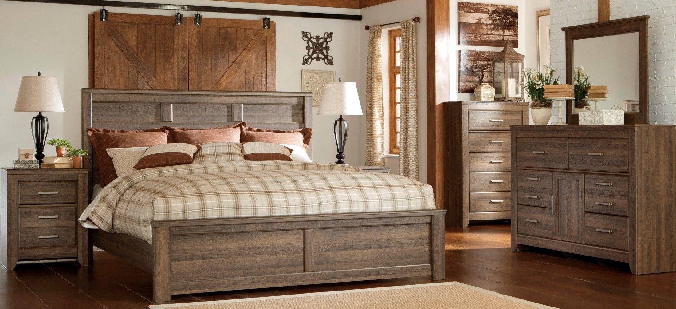 Juararo Dark Brown Panel Bedroom Set in 2020 King size