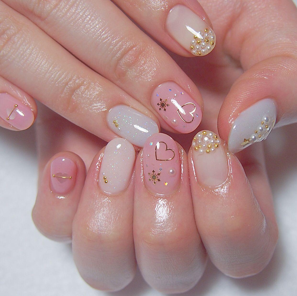 cateye nails in 2021   Asian nails, Heart nails, Swag nails