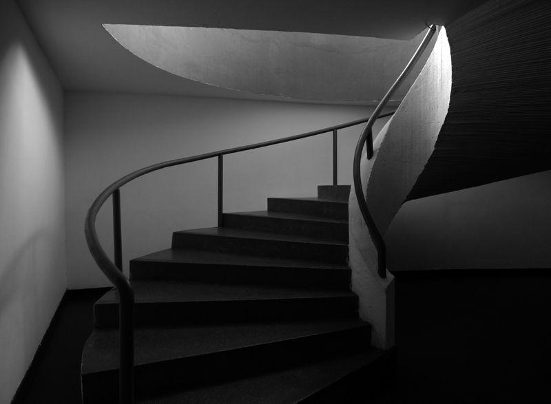 Escadaria do Museu Mac - Niterói - Rio de Janeiro.