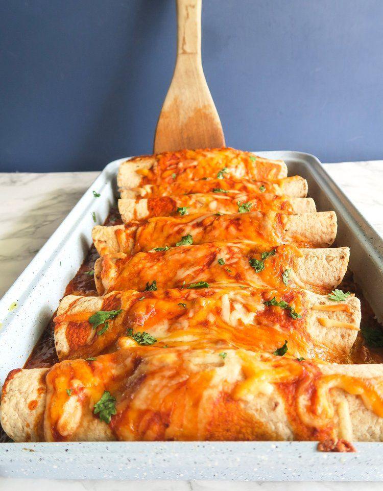 Healthy Ground Turkey Enchiladas | Ground Turkey Meal Prep — What's for Meal Prep