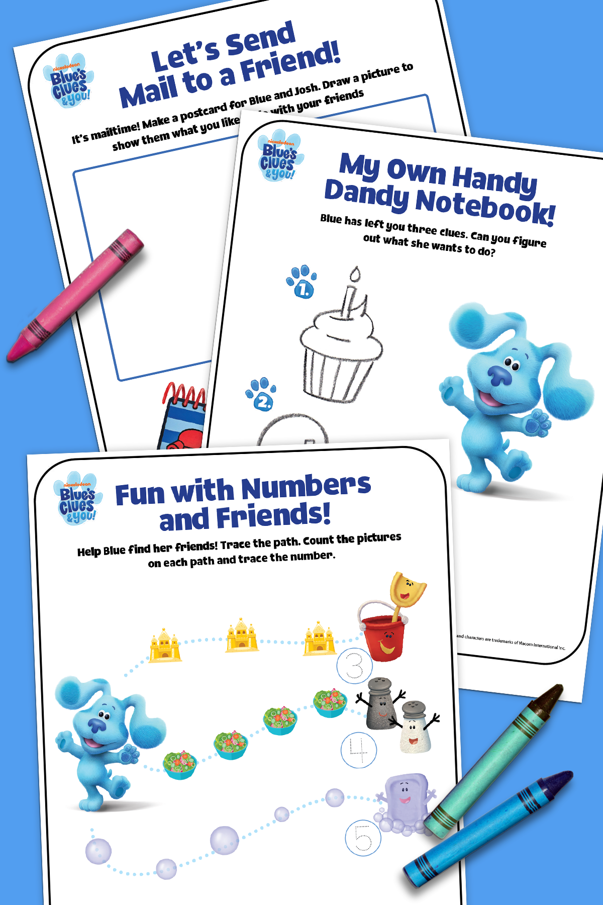Nick Jr Free Draw : Blue's, Clues, Activity, Blues, Clues,, Party,, Games