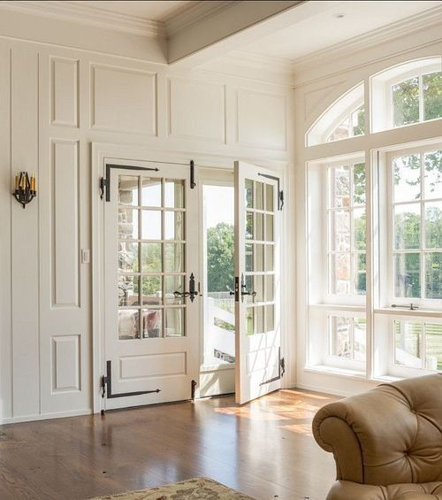 gorgeous french doors and sunroom!
