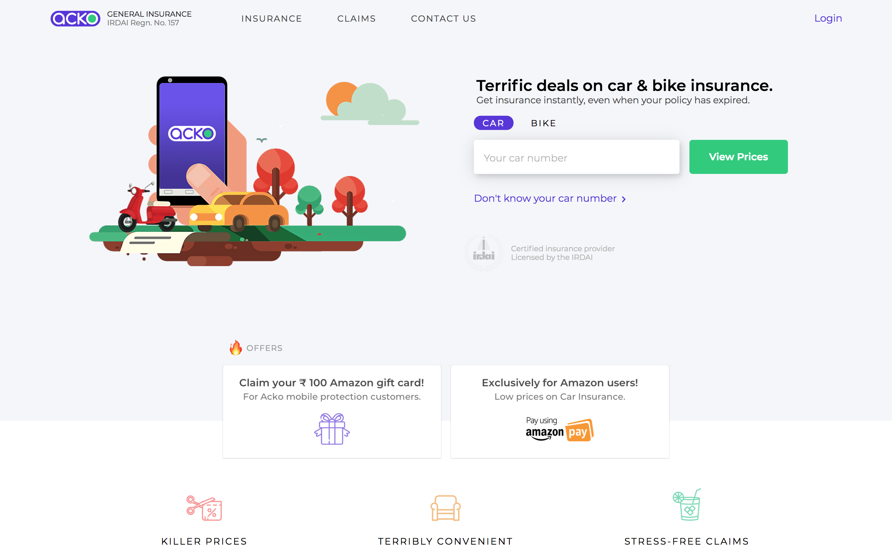 Amazon Leads 12m Investment In India Based Digital Insurance Startup Acko Investment In India Start Up Investing
