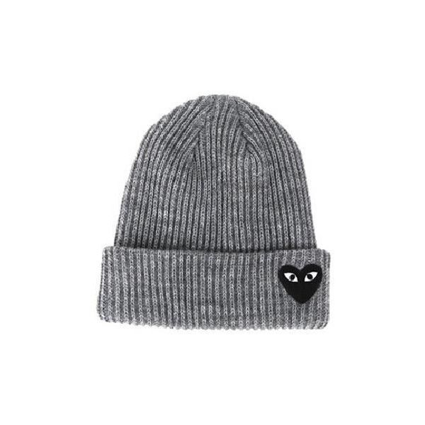 Comme des Garçons Heart Beanie (4 colors) from milkball (£12) ❤ liked on  Polyvore featuring accessories 928aa79cc4df