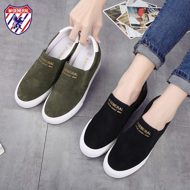 M.GENERAL Pigskin Women Winter Shoes High Top  Fashion Casual Shoes for Walking  Mujer Scarpe Donn MJ-0208