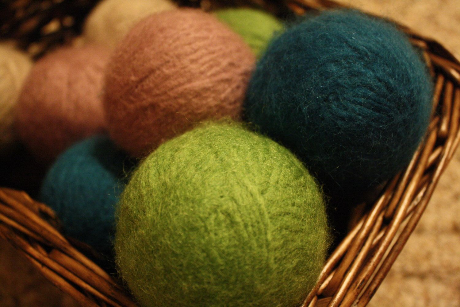 A personal favorite from my Etsy shop https://www.etsy.com/listing/475722575/wool-dryer-balls-mixed-colors-infused