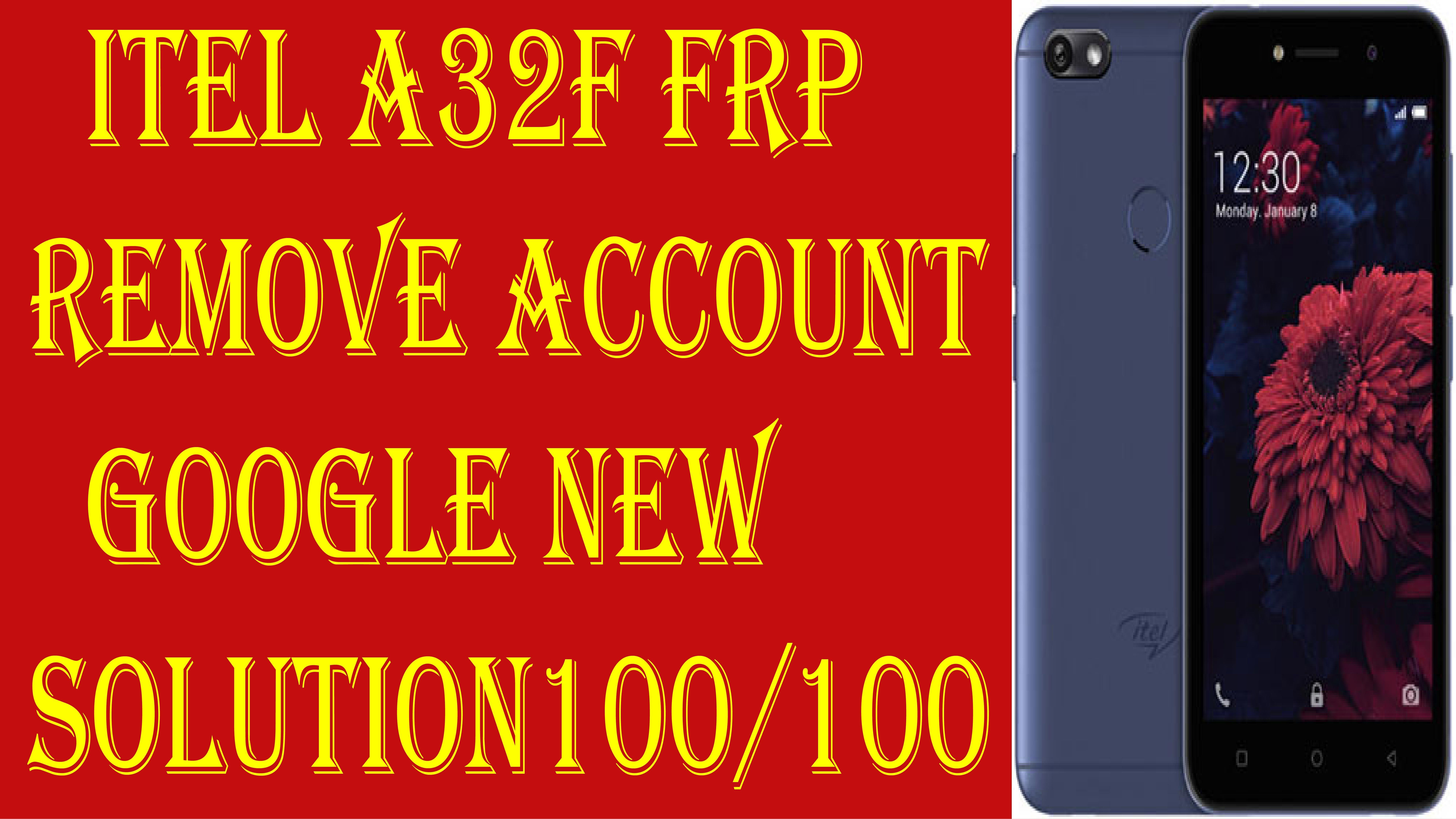 itel a32f frp remove account google new solution 100/100