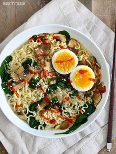 Upgraded Instant Ramen Recipe Top Ramen Recipes Food Recipes Cooking Recipes