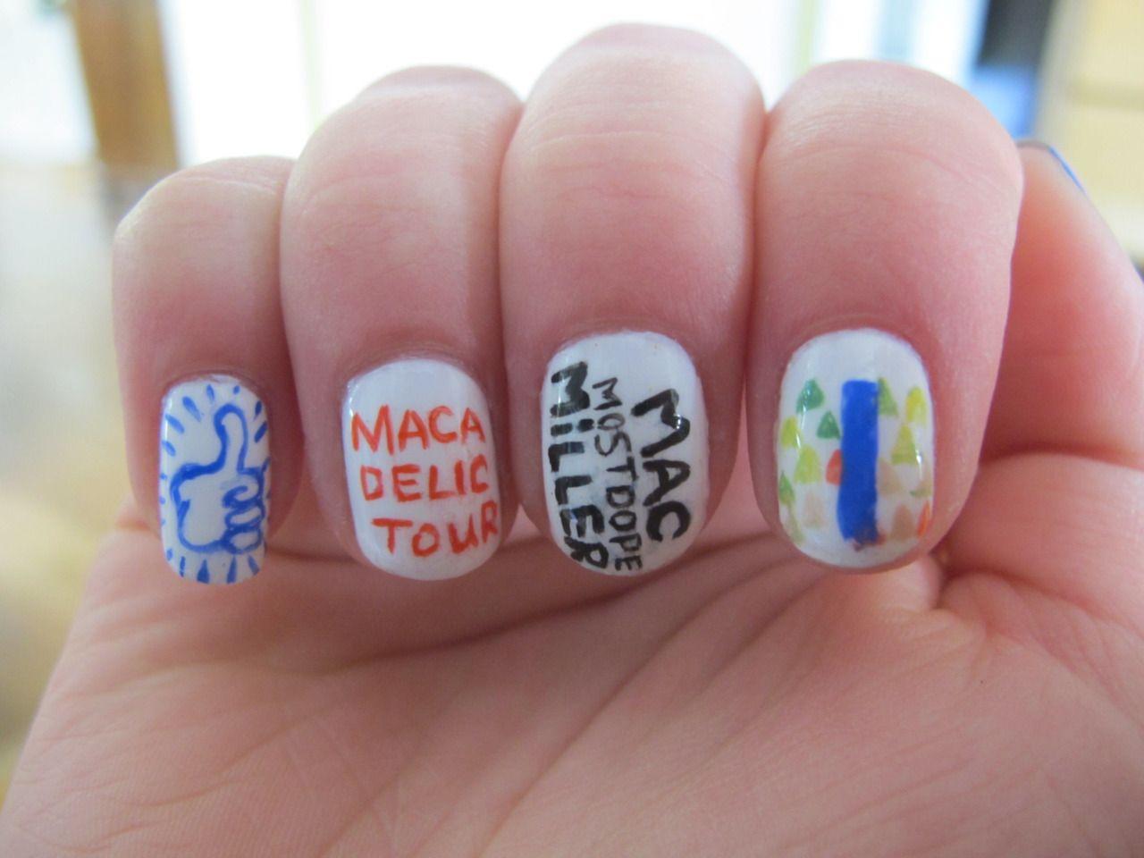 Love For Nails Mac Miller Concert 2012 Mac Miller Concert Mac Miller Tumblr Nail Art