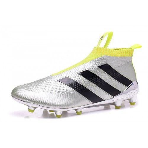 reputable site c4468 c5bd0 Adidas ACE - Barato Adidas ACE 16 Purecontrol FG Plata Amarillo Botas De  Futbol