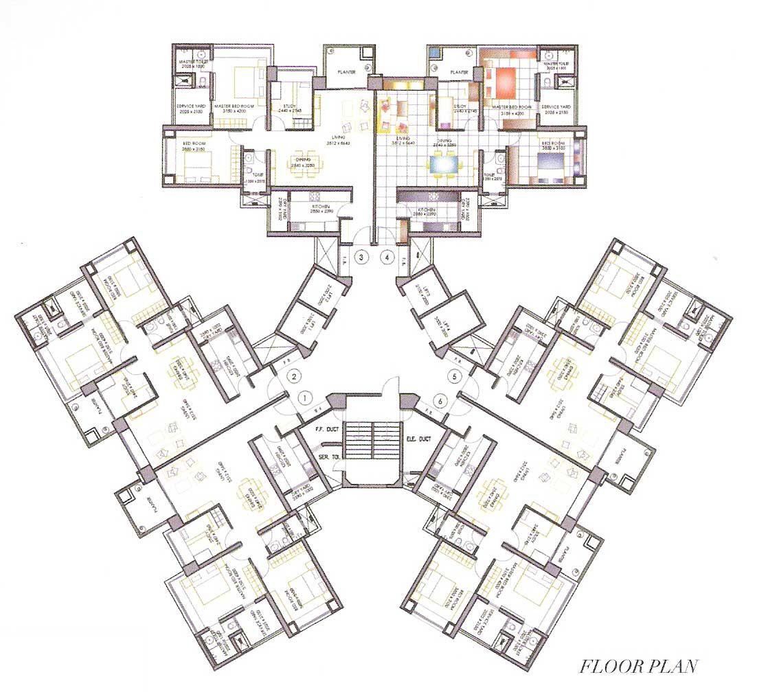 high rise residential floor plan - Google Search | floor ...