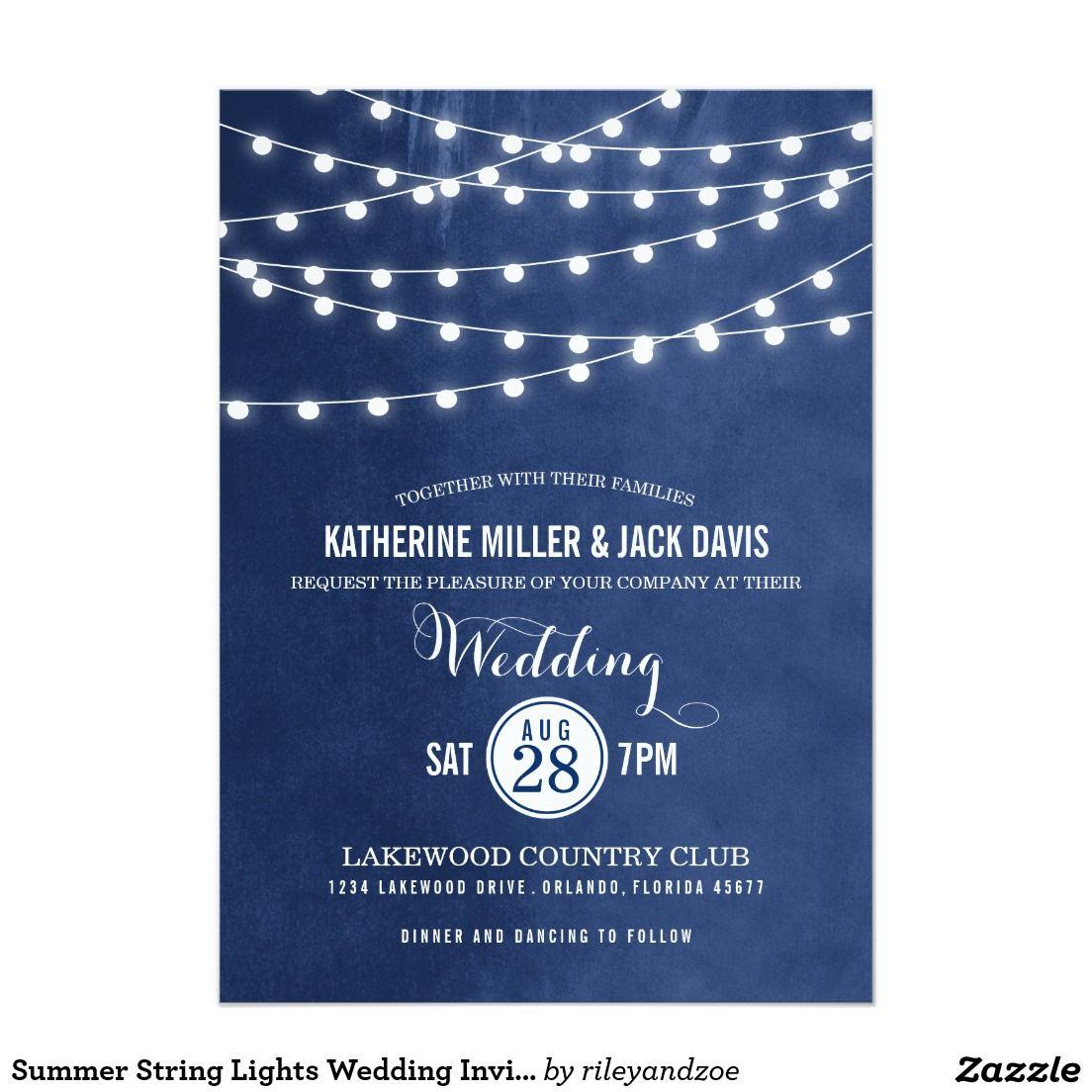 Summer string lights wedding invitation summer wedding invitations summer string lights wedding invitation filmwisefo