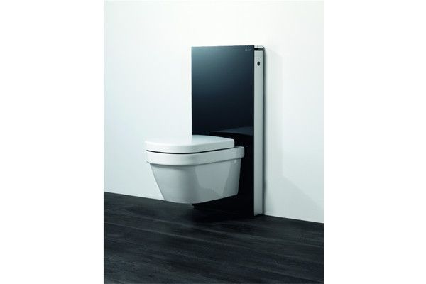 Wall hung toilet tank from geberit touchless pinterest for Geberit tank