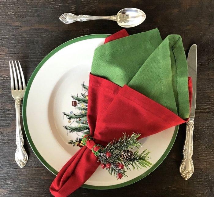1001 + tutos et idées pour un pliage de serviette pour Noël | Pliage serviette, Serviettes ...