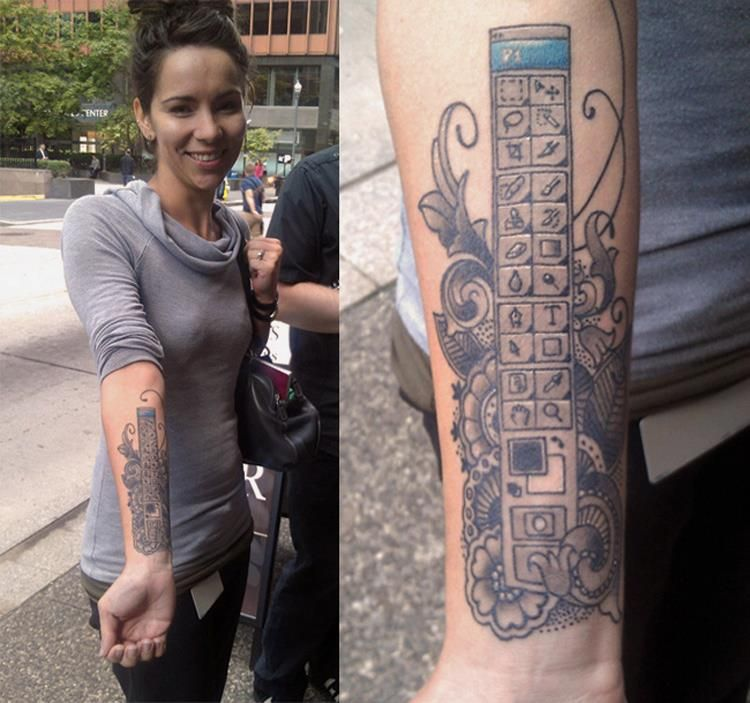 Photoshop tattoo!
