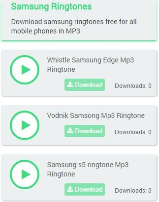 Download samsung Galaxy ringtones free for all mobile phones