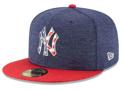 New York Yankees New Era 2017 Stars & Stripes Fitted Hat - Heathered  Navy/Heathered Red