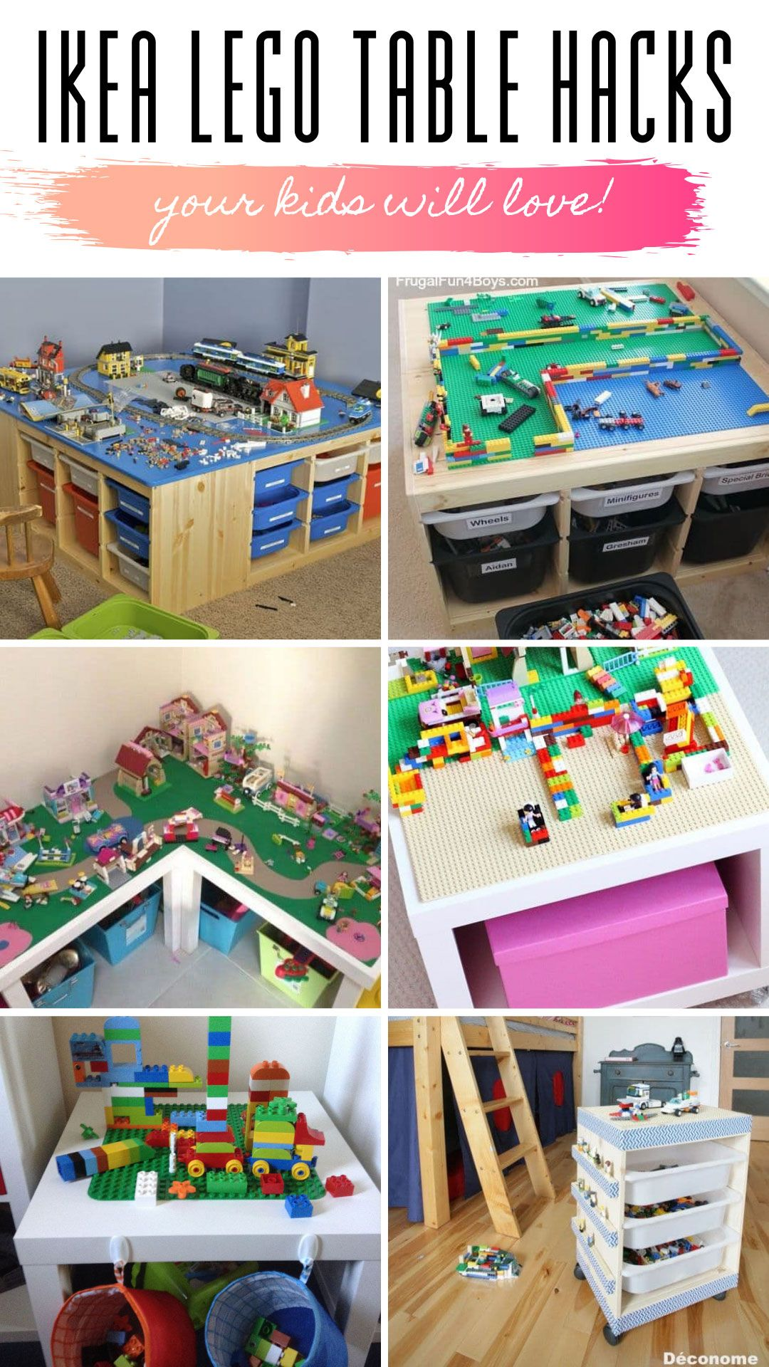 Genius IKEA LEGO Table Hacks You Kids Will Go Crazy Over