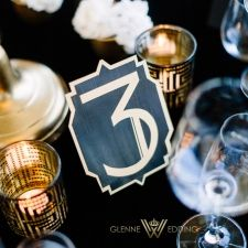 Table number! Gatsby inspired wedding in Norway at The Thief hotel by Glennewedding. www.glennewedding.no