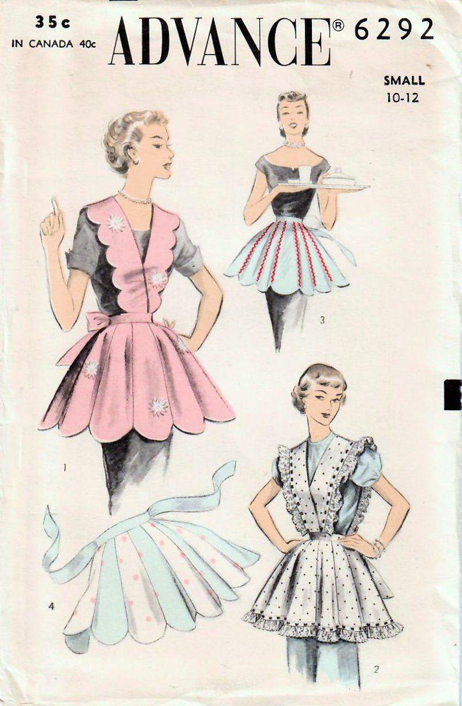 Vintage 1953 avance 6292 FF couture patron Misses hôtesse ...