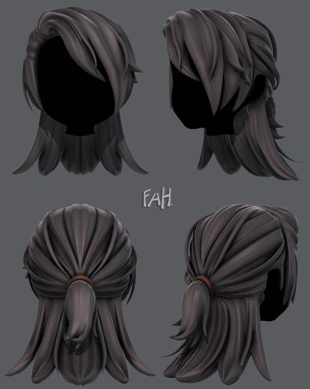 5d hair style for girl v5 5d model max obj mtl 5ds fbx ma mb dae