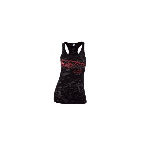 True Blood Fangtasia Burnout Slim Fit Tank Top ❤ liked on Polyvore featuring tops