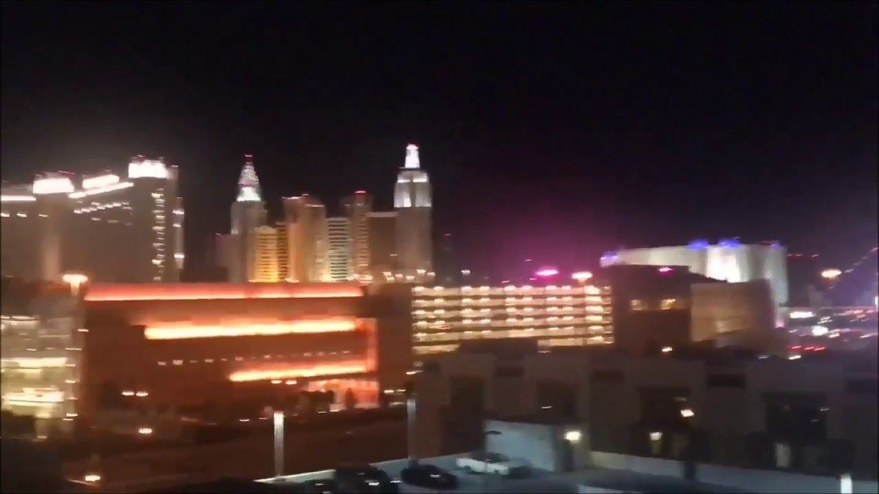 Las Vegas Shooting Helicopter Muzzle Flashes Another Shooter
