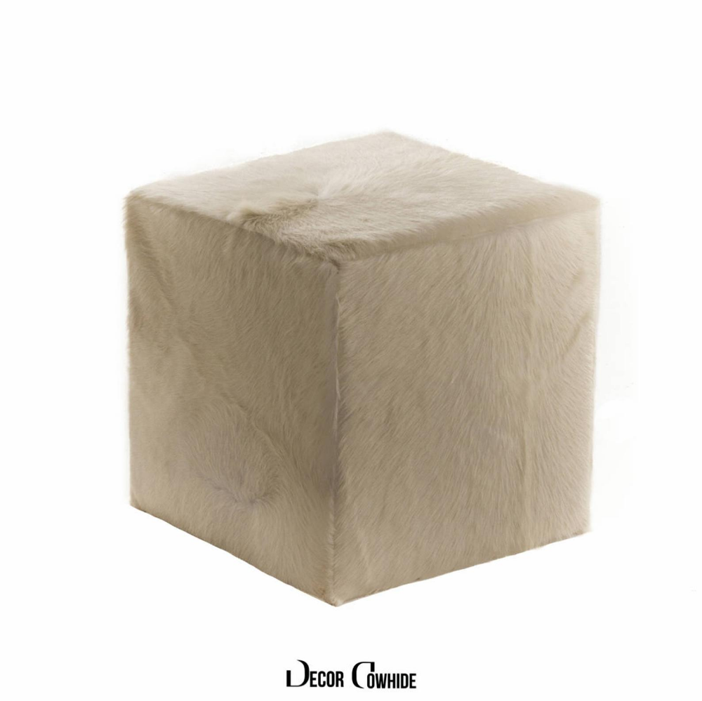 Ottoman Cube Cowhide Ivory Made In Usa 16x16x16 Etsy In 2020