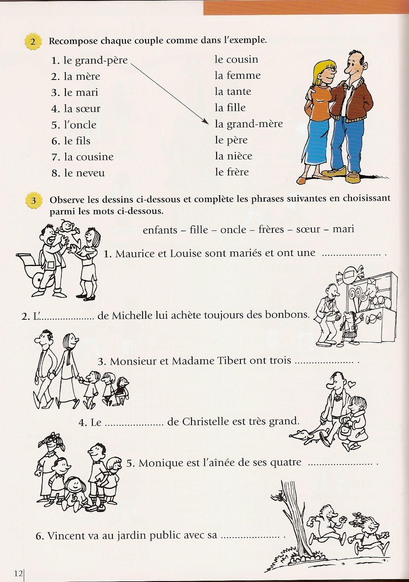 Pin De Parlefr En Fle Lexique De La Famille