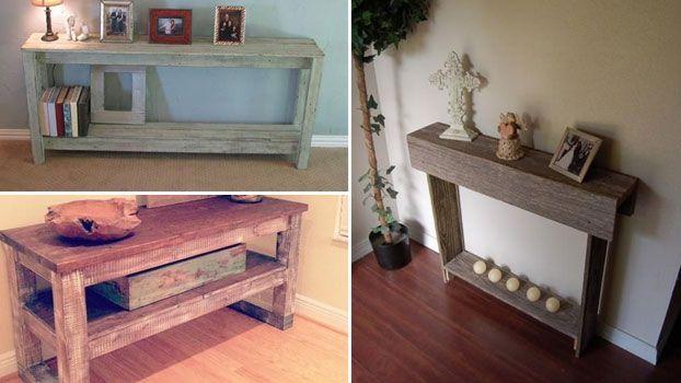 Costruire mobili ~ Realizzare mobiletti per ingresso in pallet di legno complementi