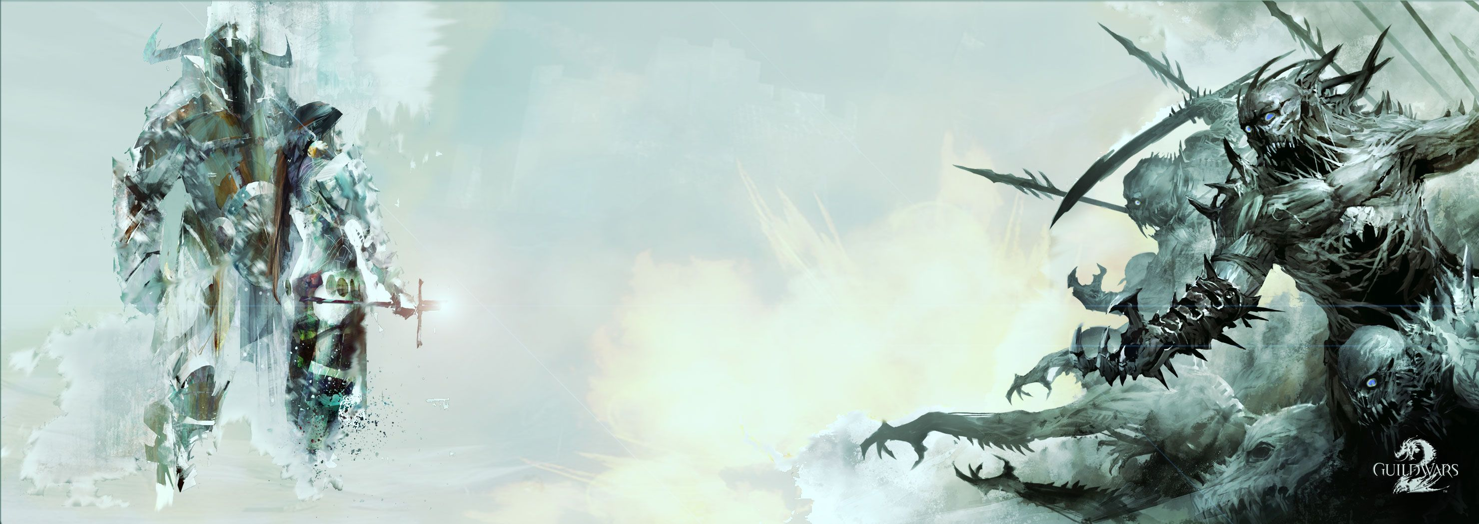 A Guild Wars 2 Wallpaper for the resolution 2960 x 1050 (dual
