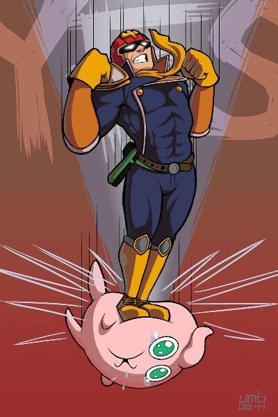Captain falcon and jigglypuff