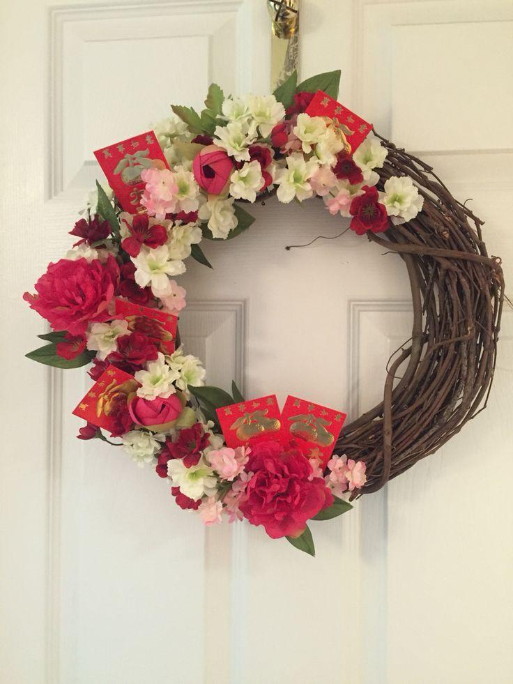 Chinese New Years wreath | Lì xì, Trang trí