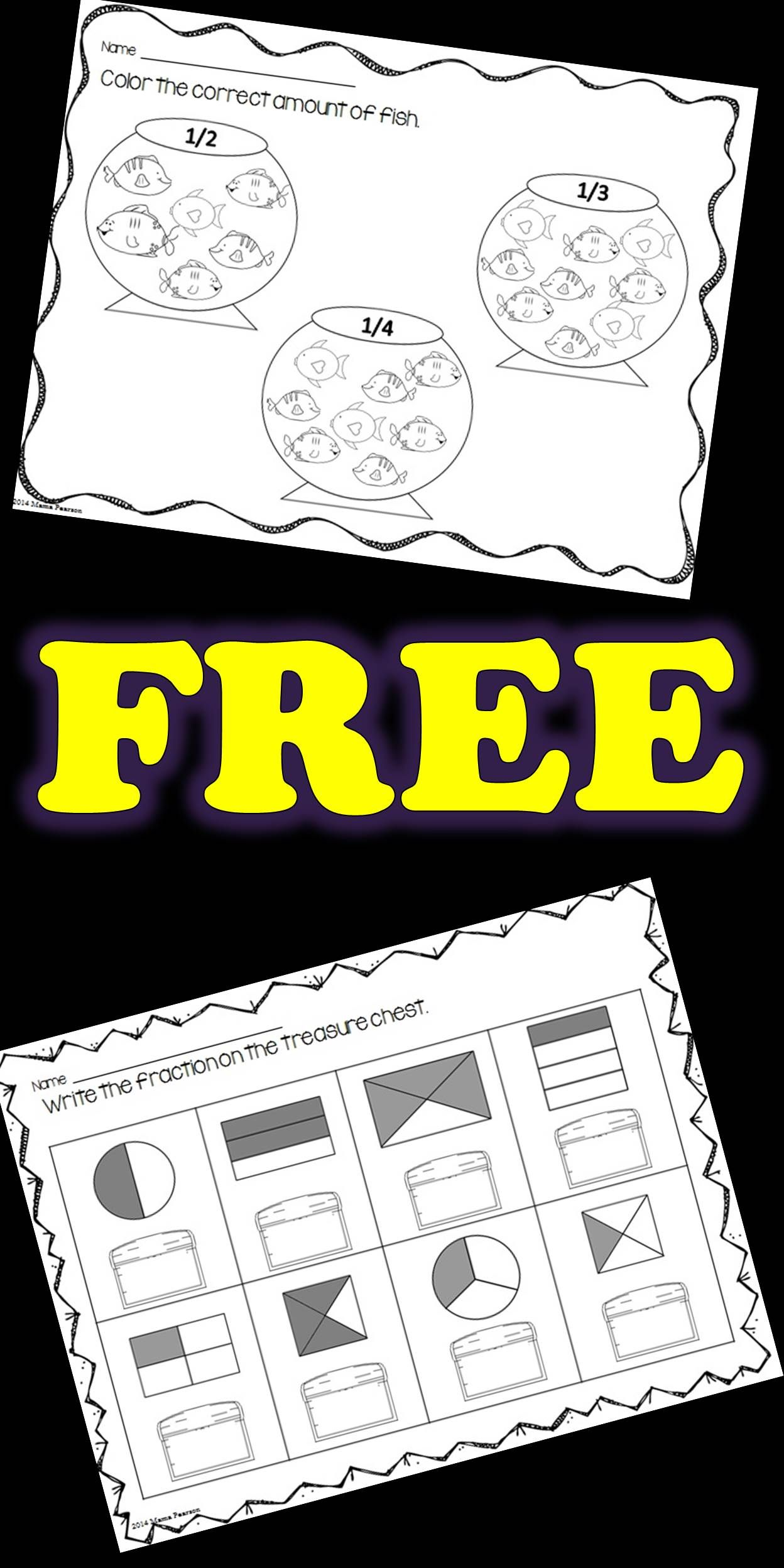 Free No Prep Fraction Printables