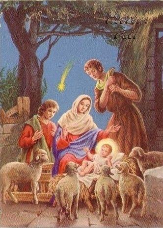 Carte ancienne de Noel | Nacimiento de jesus, Postales navidad