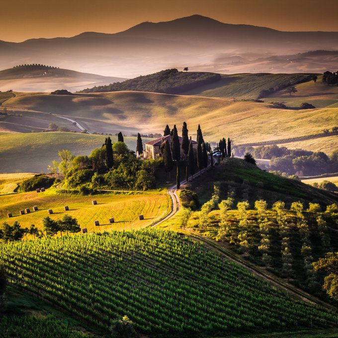 The Tuscan Morning. Tuscan absolutely beautiful colors!, province of Siena
