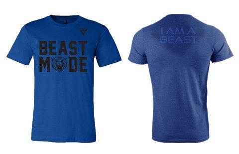 b530c28fc6 Beast Mode Royal Blue - Sweat Activated Shirt | Men's Apparel ...