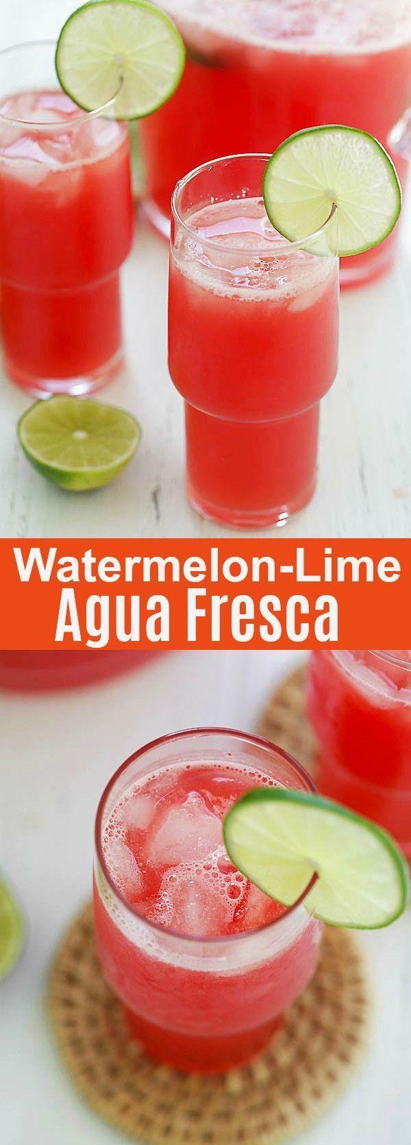 Watermelon Lime Agua Fresca Refreshing Summertime Drink That You Can Enjoy The Entire Season Made With Watermelon Lime Agua Fresca Summertime Drinks Fresca