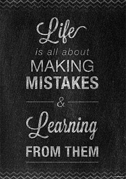 """""""Life is about making mistakes & learning from them"""" Inspire your students with the. """""""