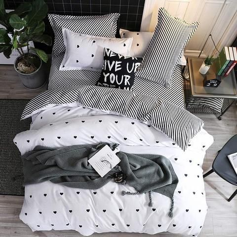 Photo of Home Bedding Sets 4Pcs Bed Sheet Duvet Cover Set Pillowcase Without Comforter,  #4pcs #Bed #b…