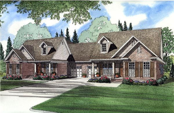 Duplex Plan Chp 41741 At Coolhouseplans Com Family House Plans Monster House Plans Duplex Floor Plans