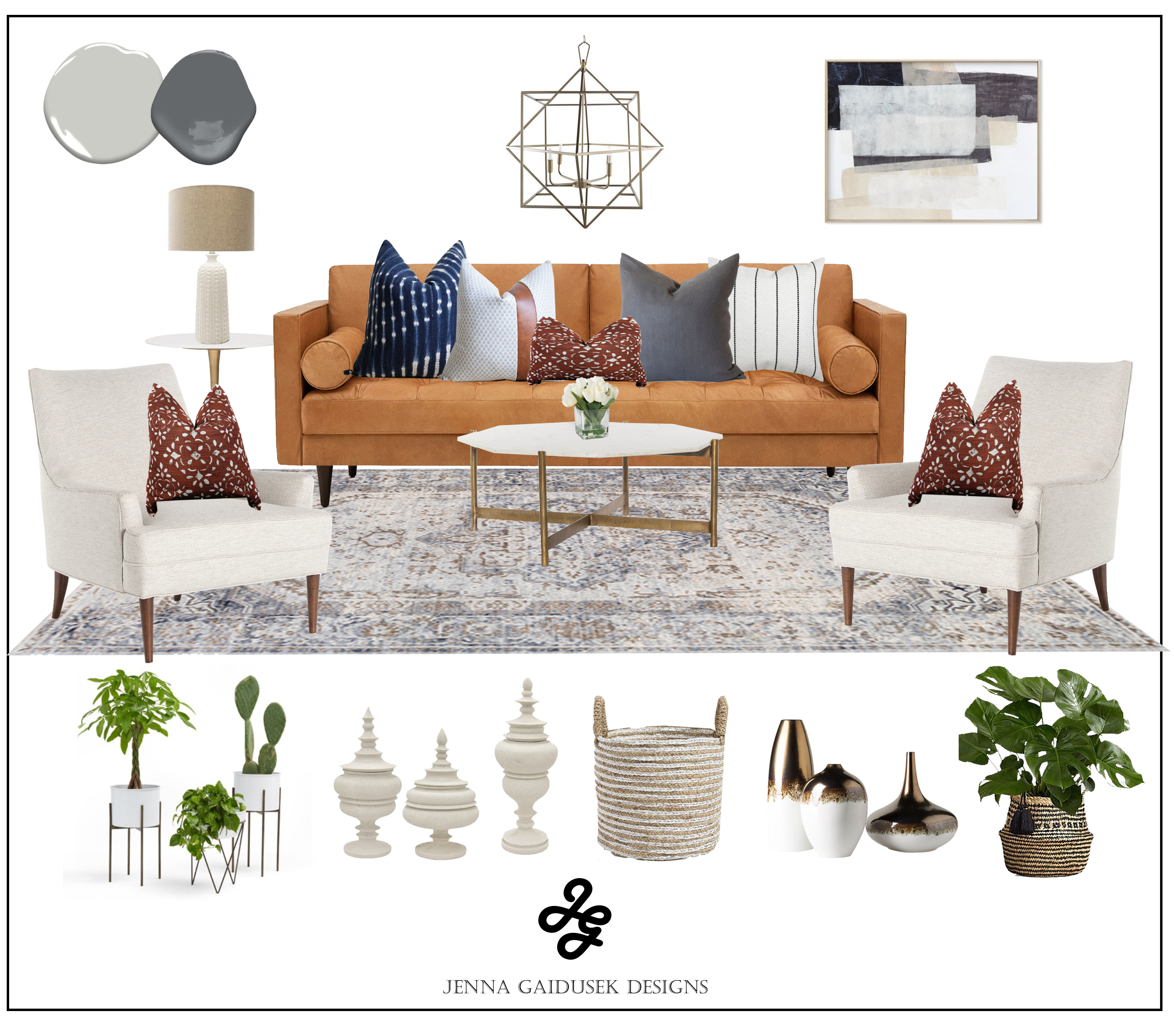 Shop the Look- Modern Farmhouse Living Room images