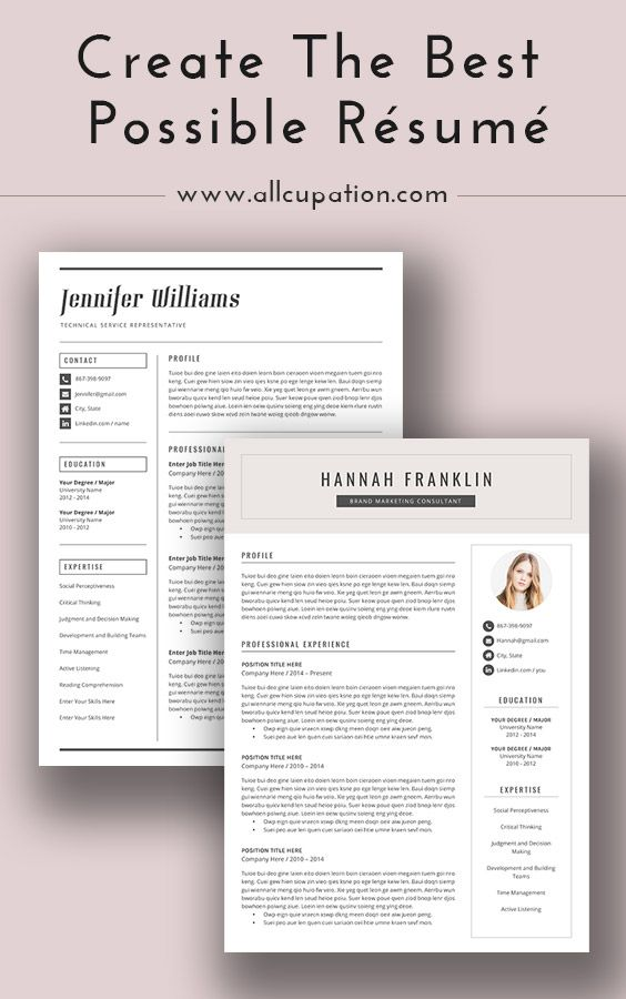 Create the best possible resume Visit wwwallcupation for - interview resume
