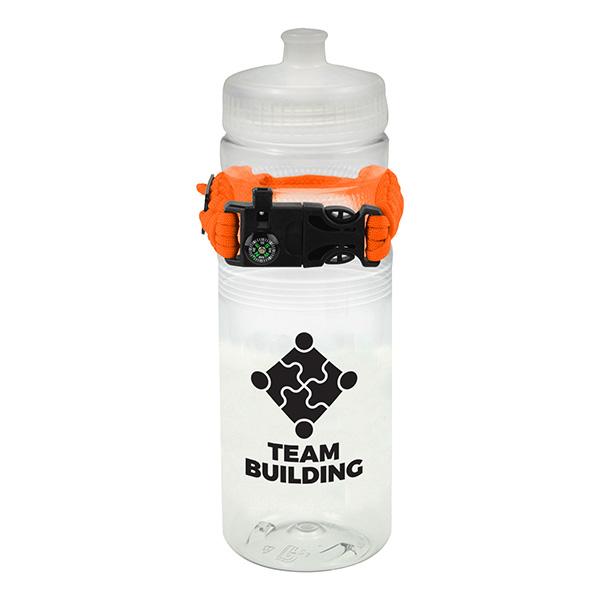Orange Bottle, Team building, Water bottle