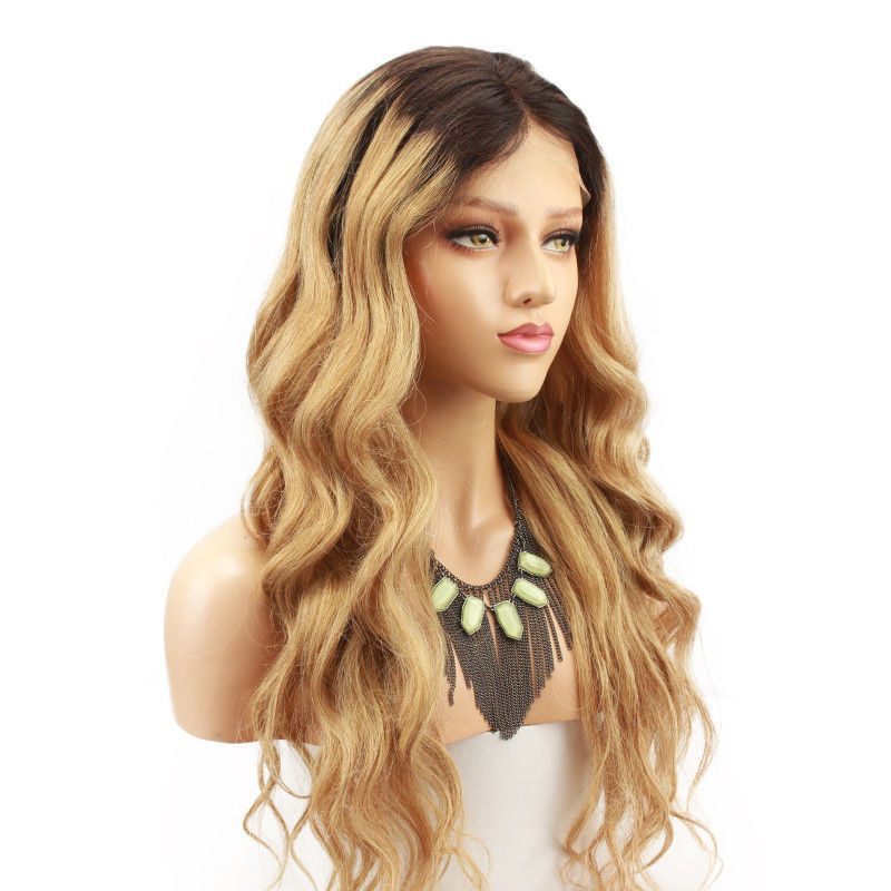Brazilian Body Wave glueless Lace Front human Hair Wigs