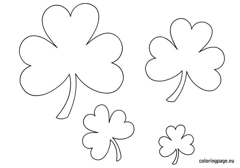 Shamrock templates | Coloring Page | Holidays: St. Patricks Day ...