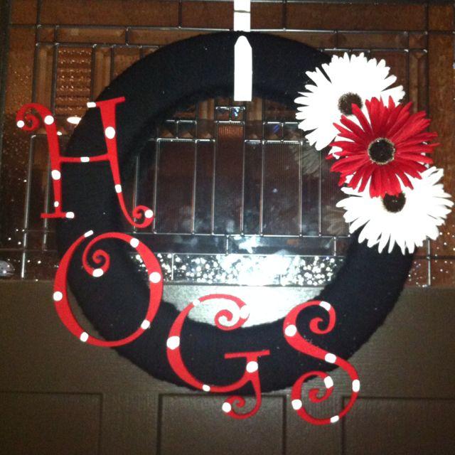 Hog wreath I made! WPS!!