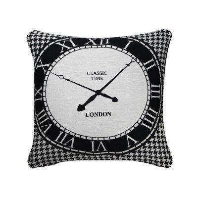 Black and White Clock Cushion