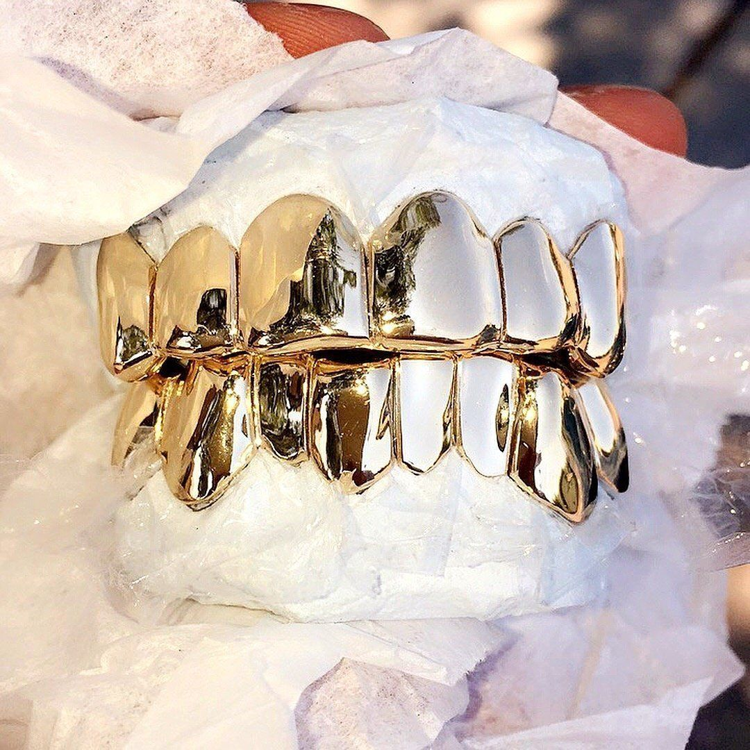 14k Solid Gold Grillz In 2020 Gold Grillz Grillz Latest Gold Design