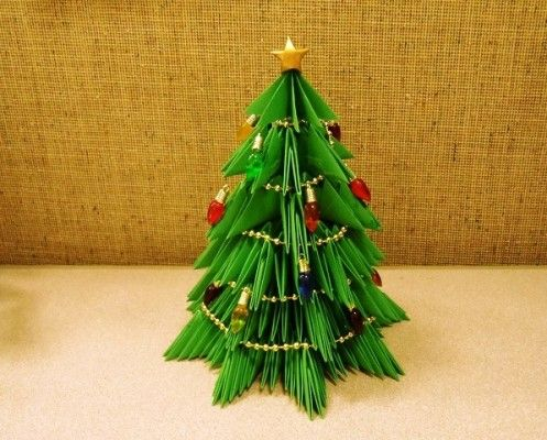 Modular origami Christmas trees - Modular Origami Christmas Trees Joint Board With Mum Pinterest